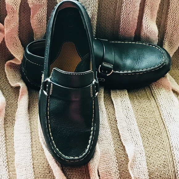 Black Leather Driving Moccasins 65